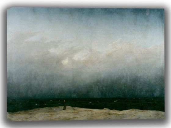 Friedrich, Caspar David: The Monk by the Sea. Fine Art Canvas. Sizes: A4/A3/A2/A1 (003893)
